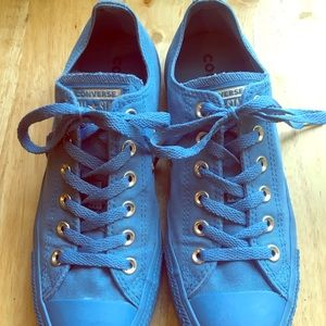 Blue Mono Converse Shoes